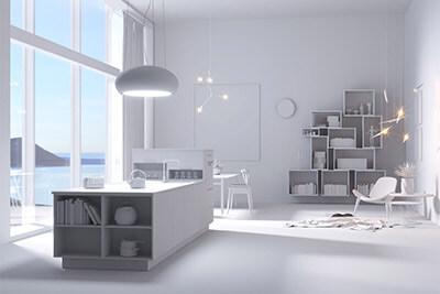 Modern kitchen clay